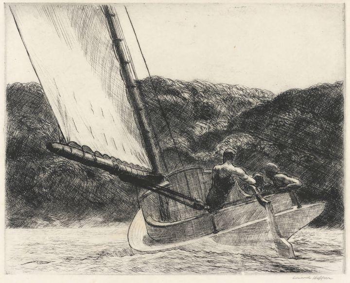 Edward Hopper~The Cat Boat - Artmaster