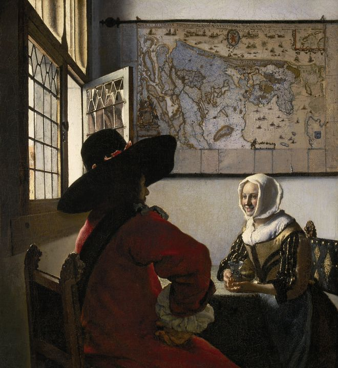 Johannes Vermeer~Officer and Laughin - Artmaster