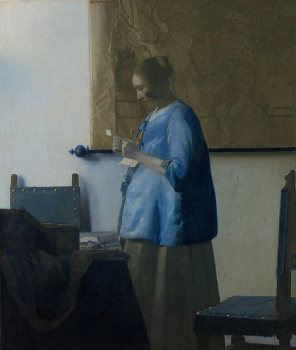 Johannes Vermeer~Woman Reading a Let - Artmaster