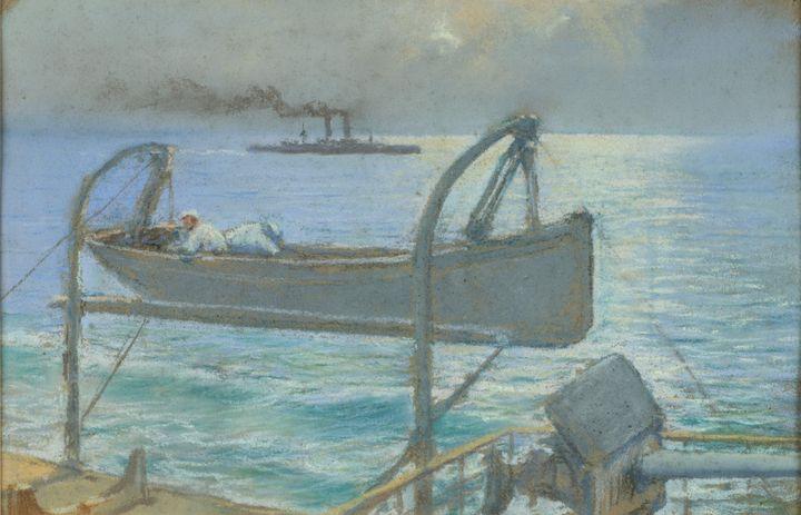 Justo Ruiz Luna~Bote of a warship - Artmaster