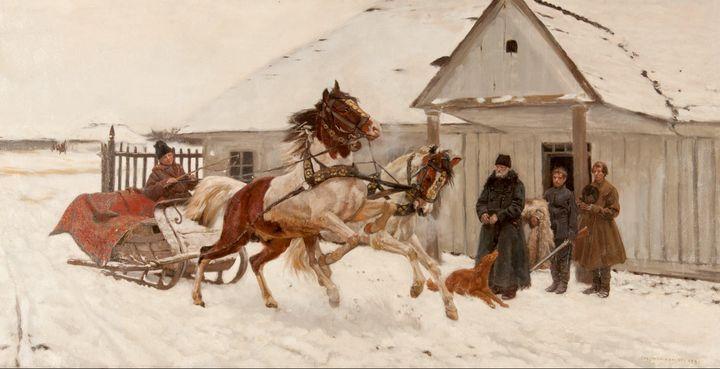 Józef Chełmoński~Departure - Artmaster