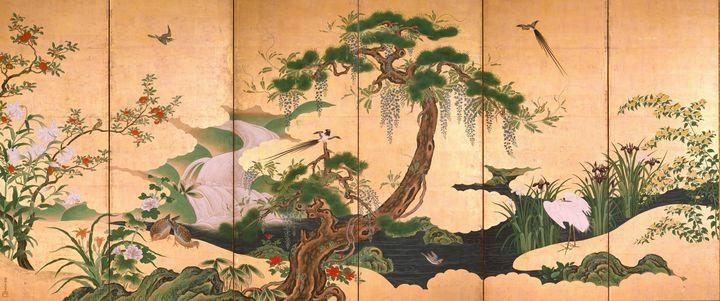Kanō Einō~Birds and Flowers of Sprin - Artmaster