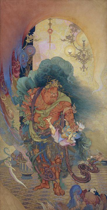 Kanō Hōgai~Nio (Buddhistguardian) Se - Artmaster