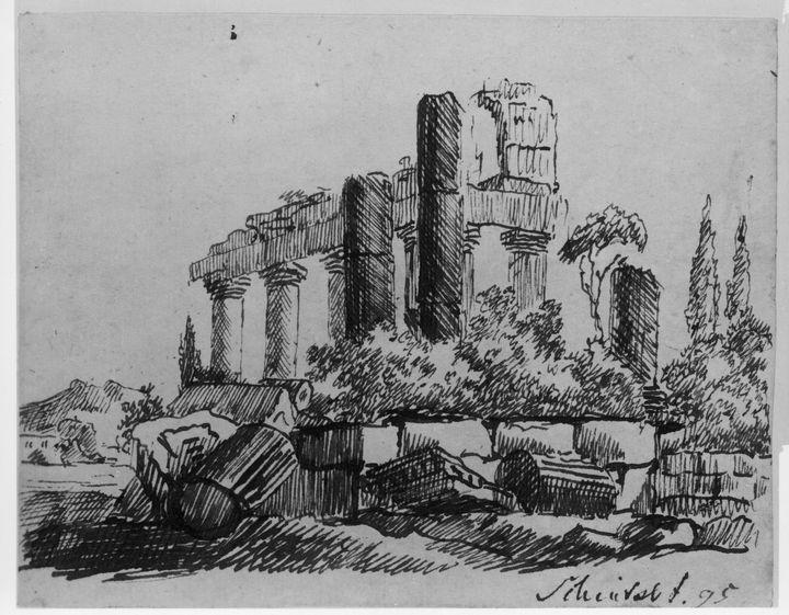 Karl Friedrich Schinkel~Ancient Temp - Artmaster