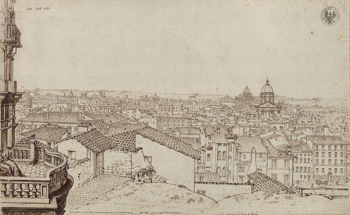 Karl Friedrich Schinkel~View of Rome - Artmaster
