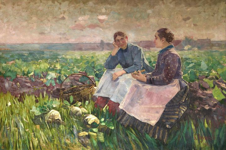 Karl Hagemeister~Two women in turnip - Artmaster