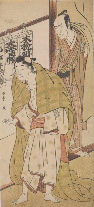 Katsukawa Shunshō~Two Kabuki actors - Artmaster