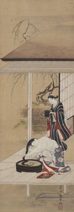 Katsukawa Shunshō~Woman washing her - Artmaster