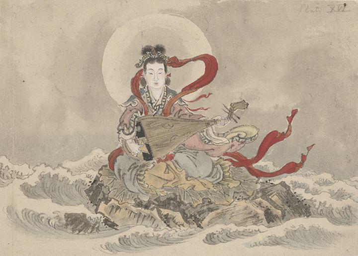 Kawanabe Kyōsai~Benzaiten (Benten) - Artmaster