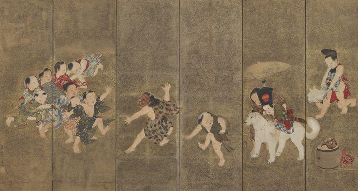 Kawanabe Kyōsai~Children at play - Artmaster