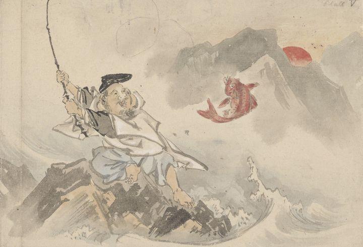 Kawanabe Kyōsai~Ebisu fishing - Artmaster