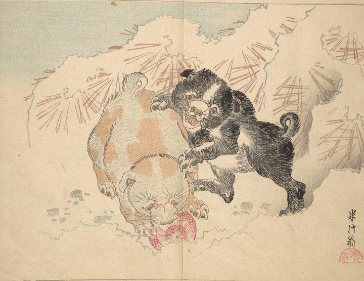 Kawanabe Kyōsai~河鍋暁斎画 『暁齋樂画』Kyōsai's - Artmaster