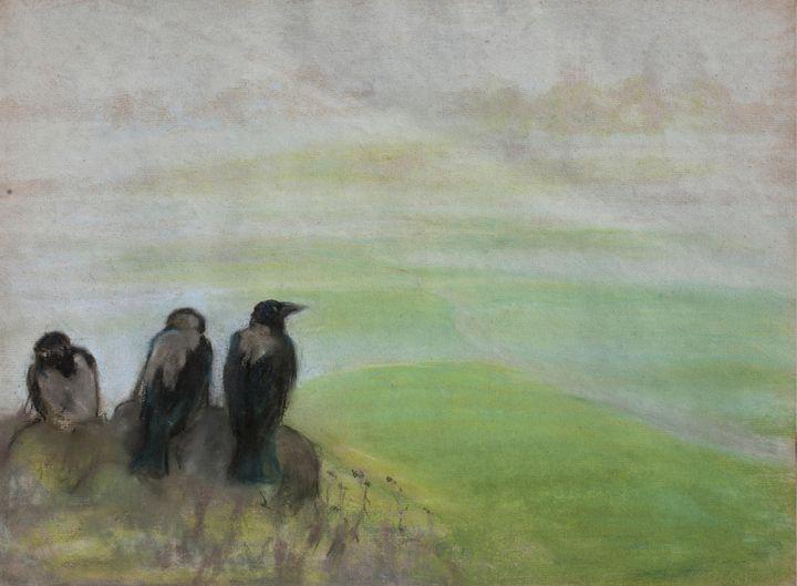 Kazimierz Stabrowski~Blackbirds - Artmaster