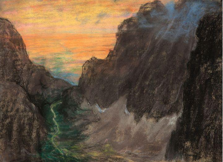 Kazimierz Stabrowski~Sunset in the w - Artmaster