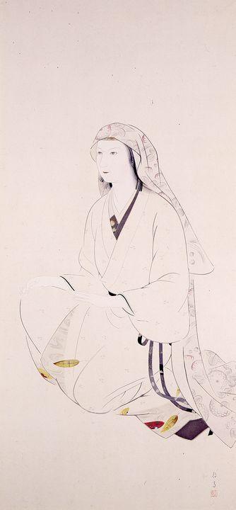 Kikuchi Keigetsu~Hakurome, woman who - Artmaster