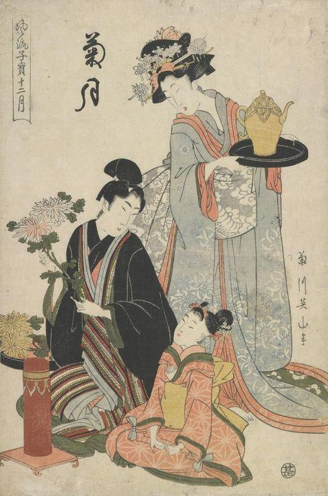 Kikukawa Eizan~Chrysanthemum month f - Artmaster