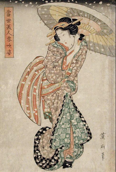Kikukawa Eizan~Modern Beauty in a Sn - Artmaster