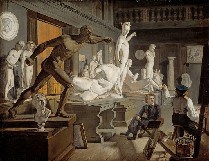 Knud Baade~Scene from the Academy in - Artmaster