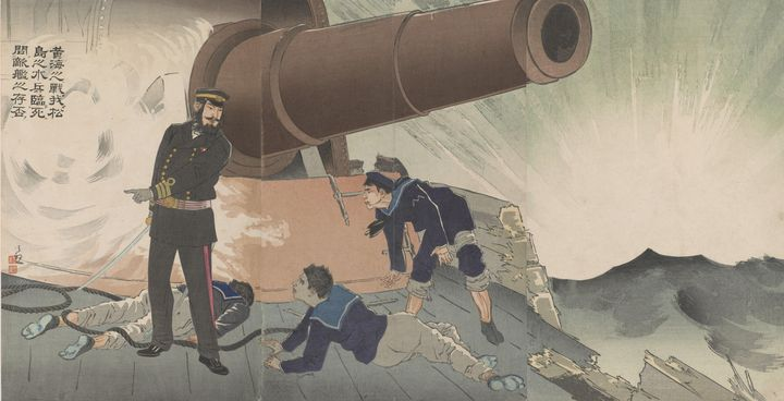 Kobayashi Kiyochika~At the battle of - Artmaster