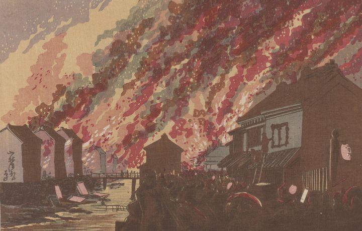 Kobayashi Kiyochika~Fire Seen from H - Artmaster