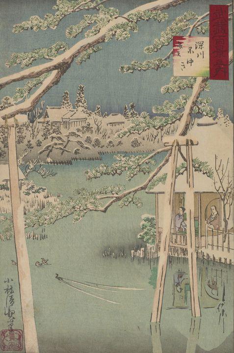 Kobayashi Kiyochika~Fukagawa's Bente - Artmaster