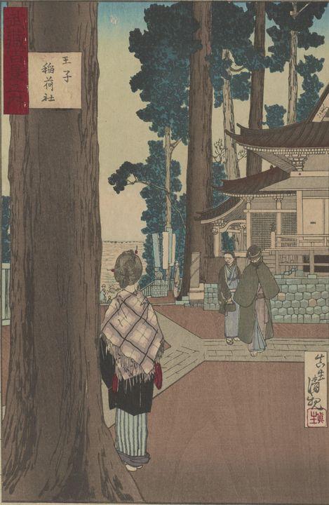 Kobayashi Kiyochika~Inari Shrine at - Artmaster