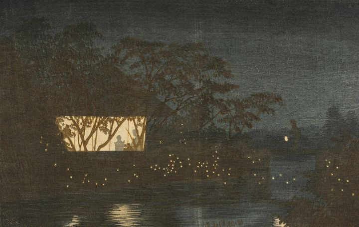 Kobayashi Kiyochika~Koromo River bel - Artmaster
