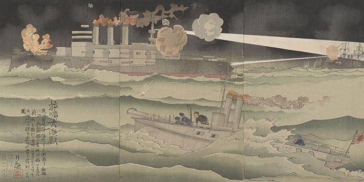 Kobayashi Kiyochika~Naval battle of - Artmaster