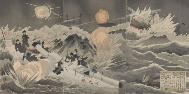 Kobayashi Kiyochika~Our torpedo sink - Artmaster