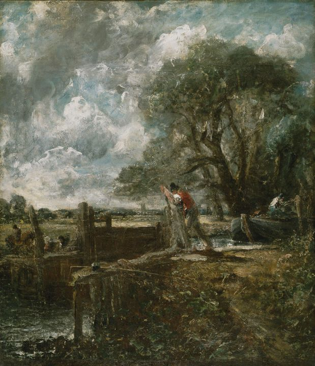 John Constable~Sketch for A Boat Pas - Artmaster