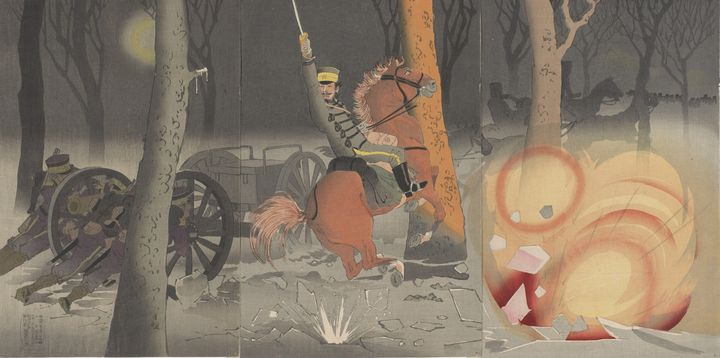 Kobayashi Kiyochika~Scene of land-ba - Artmaster