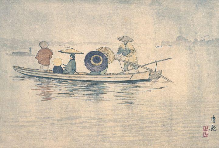 Kobayashi Kiyochika~Spring Rain near - Artmaster