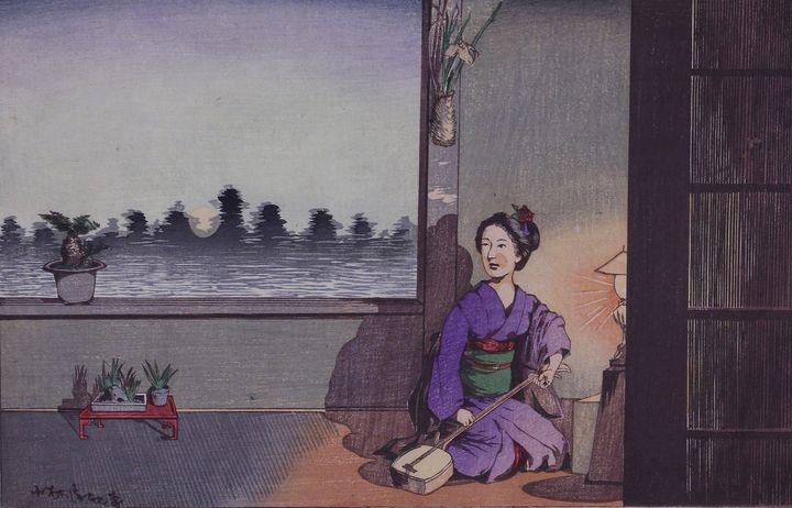 Kobayashi Kiyochika~Summer moon of I - Artmaster