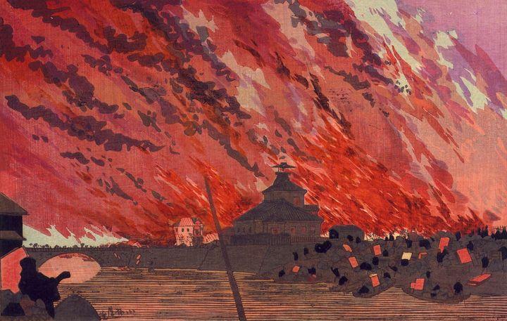 Kobayashi Kiyochika~The Great Fire a - Artmaster
