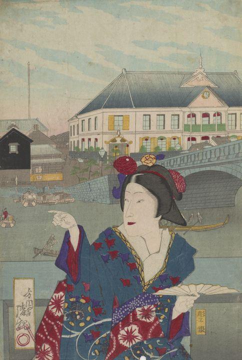 Kobayashi Kiyochika~View of Edo Brid - Artmaster