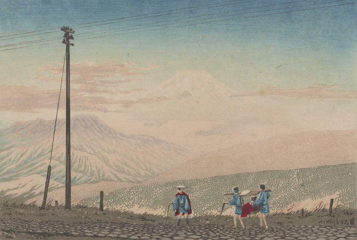 Kobayashi Kiyochika~View of Mount Fu - Artmaster