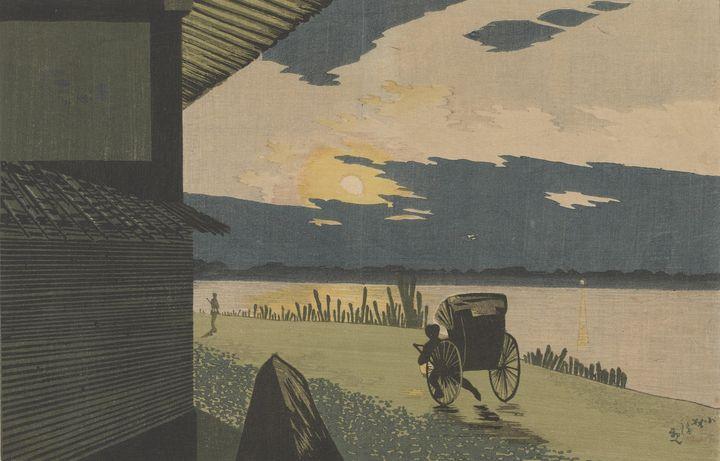 Kobayashi Kiyochika~View of Sunrise - Artmaster