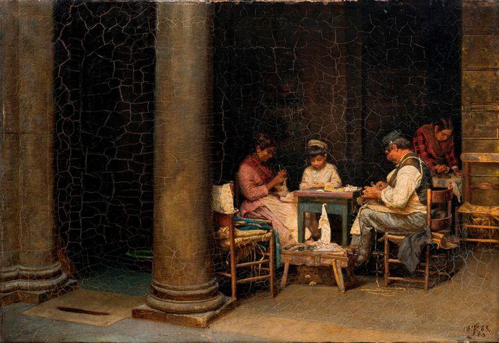 Kristian Zahrtmann~Courtyard of the - Artmaster