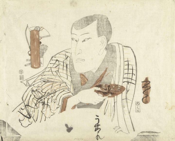 Kunisada~Acteur met schaaltje - Artmaster