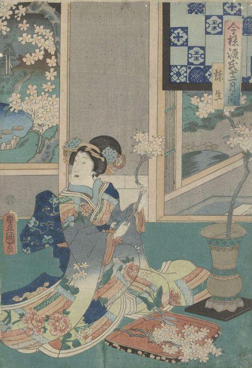 Kunisada~De derde maand - Artmaster