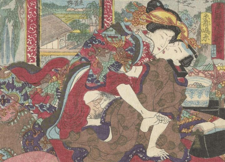 Kunisada~De pleisterplaats Kyoto - Artmaster