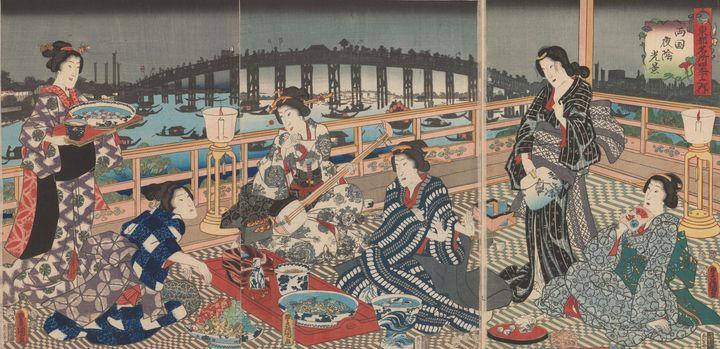 Kunisada~Four Seasons of the Eastern - Artmaster