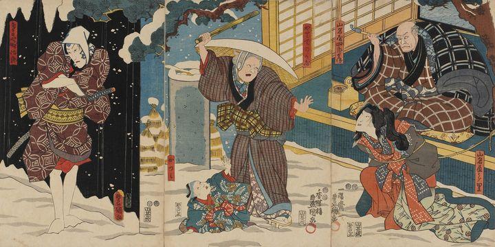 Kunisada~Kabuki Scene at the Yamanay - Artmaster