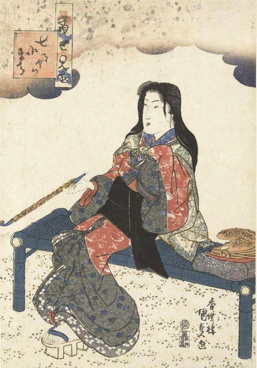 Kunisada~Komachi op het graf - Artmaster