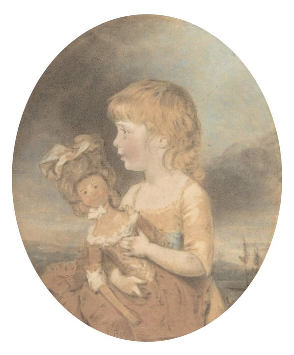 John Downman~Child Holding a Doll - Artmaster