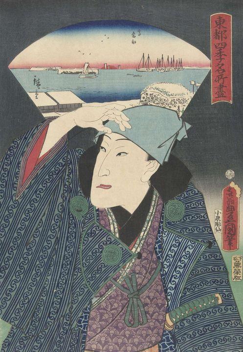 Kunisada~Takanawa in de winter - Artmaster