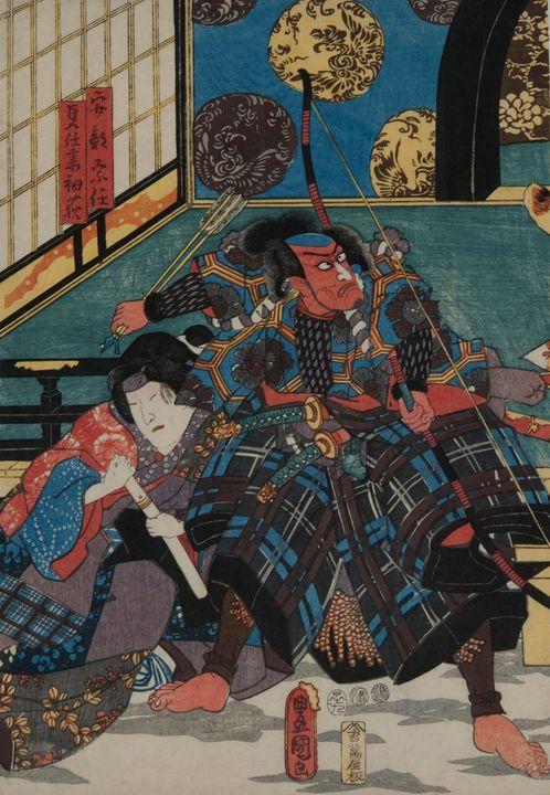 Kunisada~The kabuki actor Ichikawa E - Artmaster