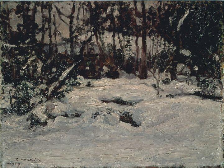 Kuroda Seiki~Snow Scene - Artmaster