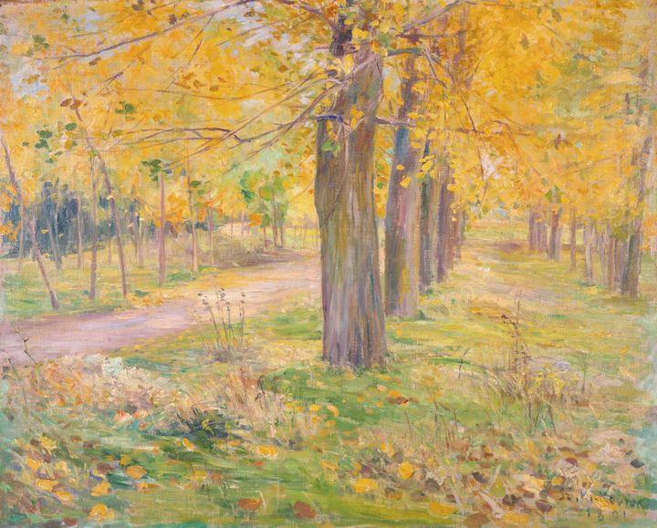 Kuroda Seiki~Yellow Leafed Poplars - Artmaster