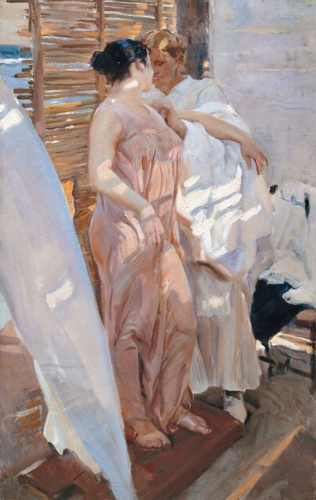 Joaquín Sorolla~The Pink Robe. After - Artmaster